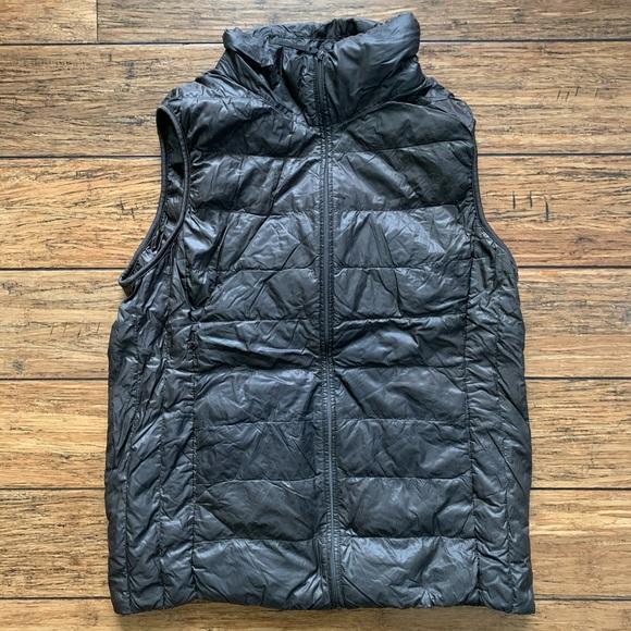 Uniqlo Jackets & Blazers - Pewter Black Dark Grey Puffer Vest